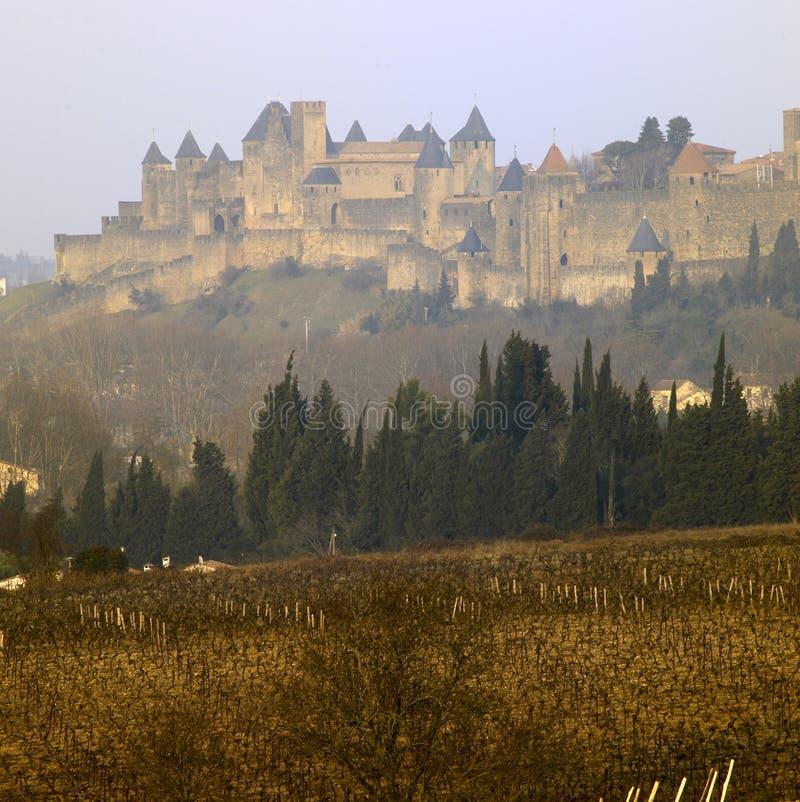 город carcassonne стоковые изображения rf
