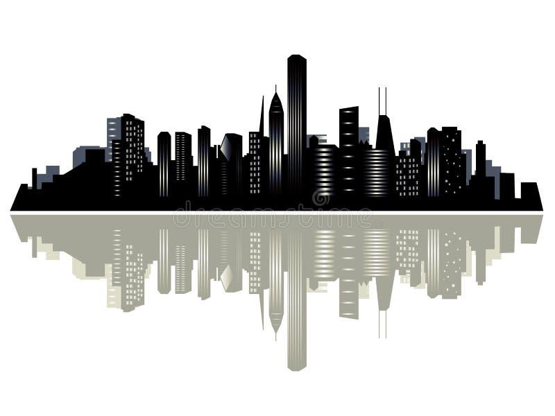 город chicago иллюстрация вектора