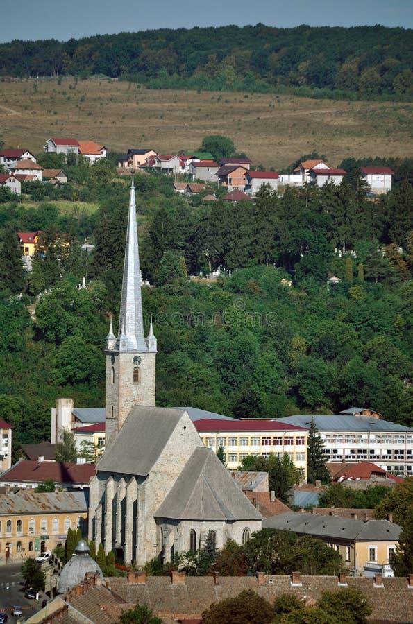 Город Dej в Румыния стоковое изображение rf
