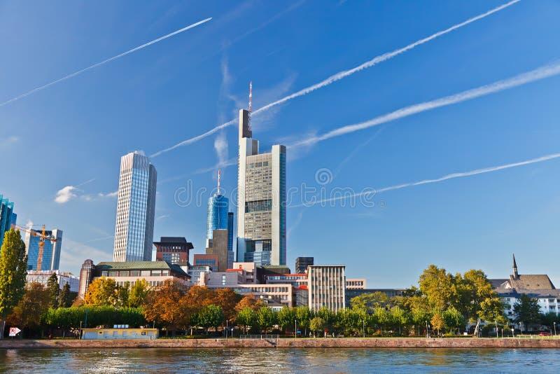 город frankfurt стоковое изображение rf