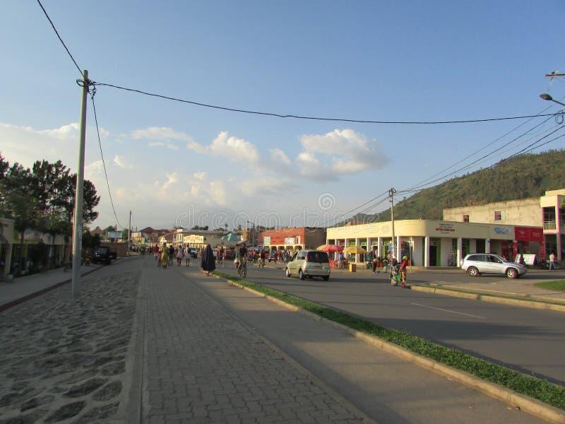 Город Gisenyi стоковая фотография