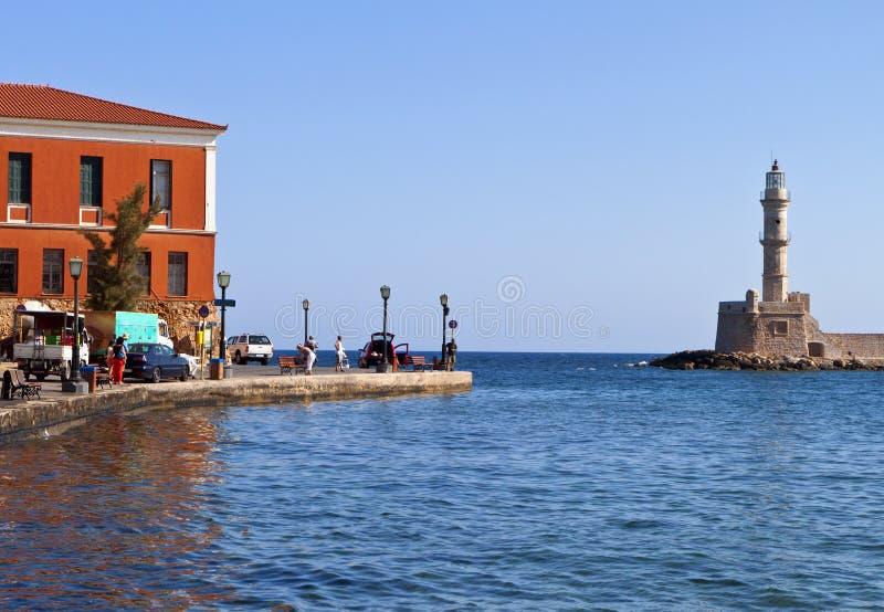 Город Hania на острове Крита в Греции стоковое изображение