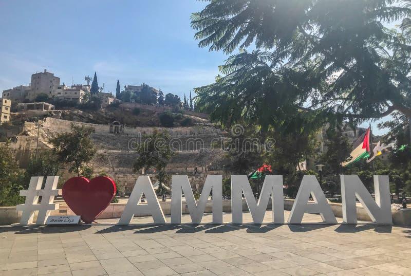 Город hashtag Аммана Иордан стоковая фотография