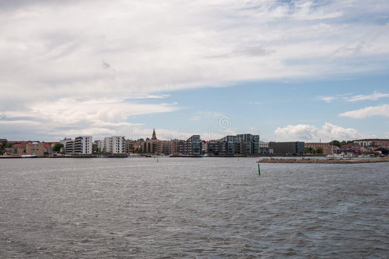 Город Holbaek в Дании стоковое фото