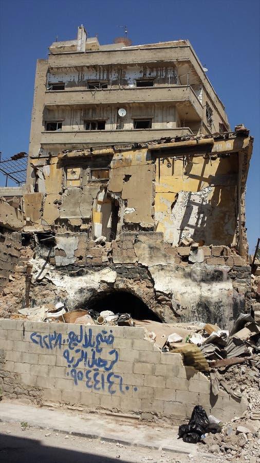 Город homs после войны стоковые фотографии rf
