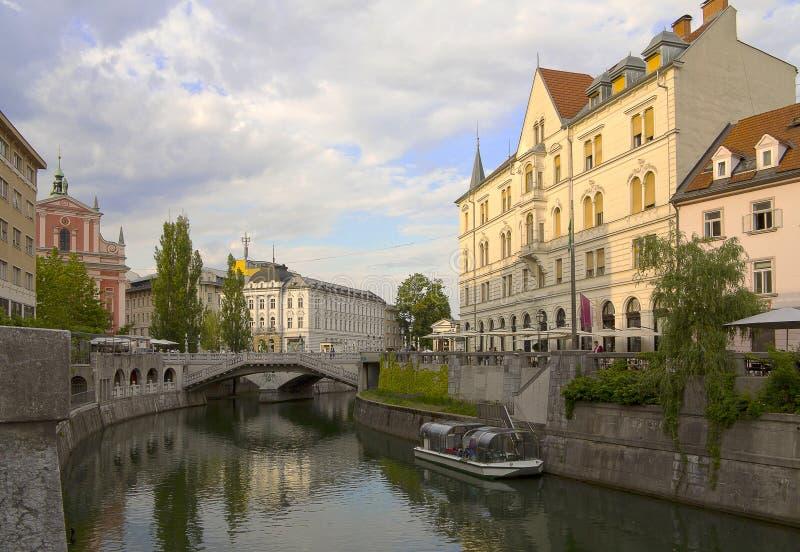 город ljubljana Словения стоковые фото