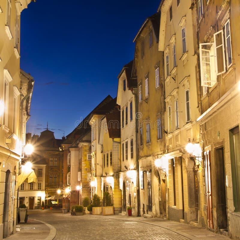 город ljubljana средневековый s cener стоковое фото rf