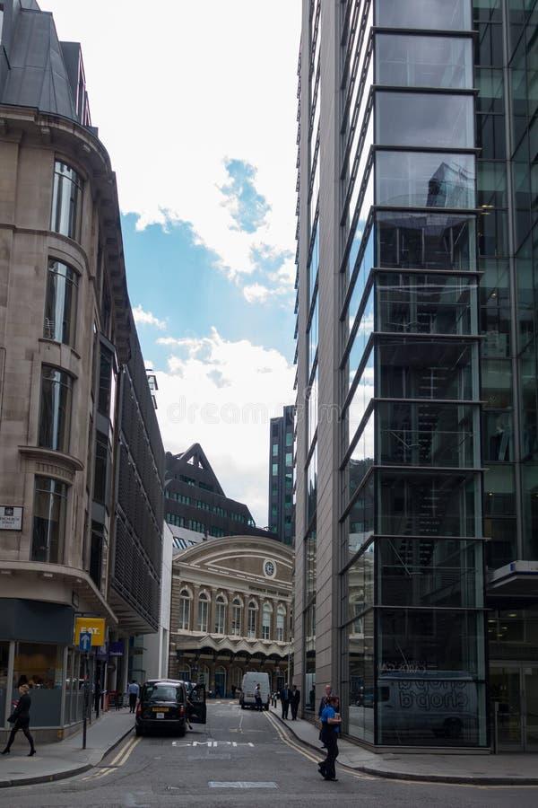 Город, London& x27; район s финансовый Англия и Великобритания Июнь 2015 стоковая фотография