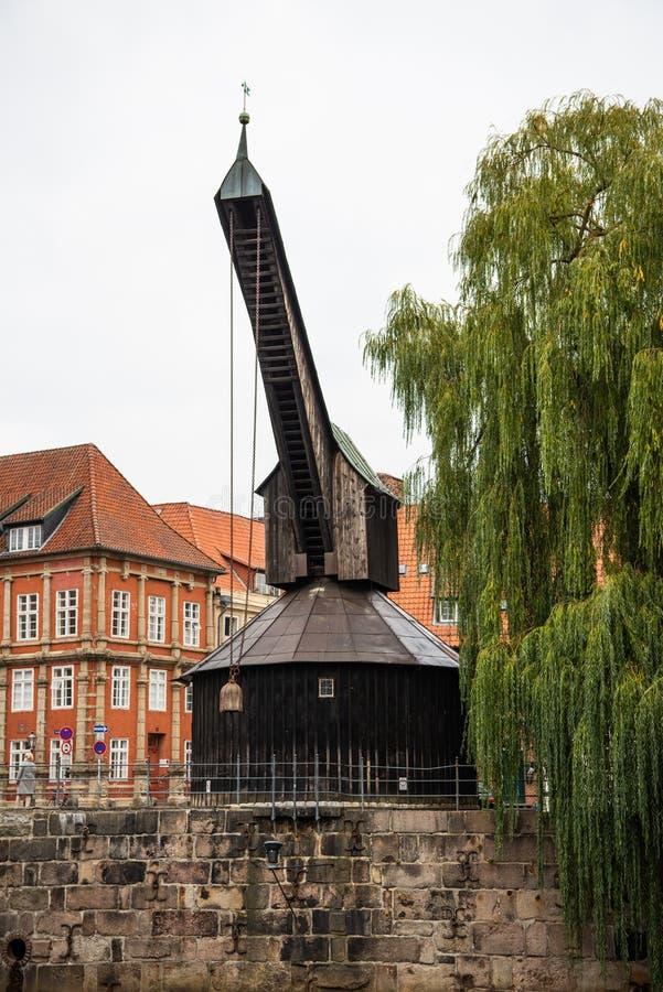 Город Lueneburg старые и гавань срока стоковые фото
