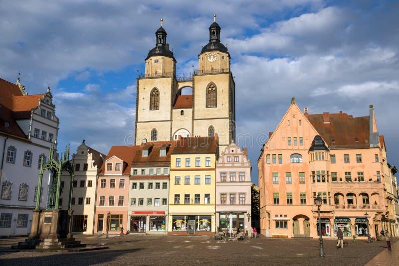 Город Lutherstadt Wittenberg, Saxeny-Anhalt, Германия стоковая фотография