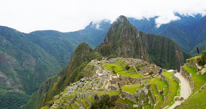 Город Machu Picchu, Перу стоковая фотография
