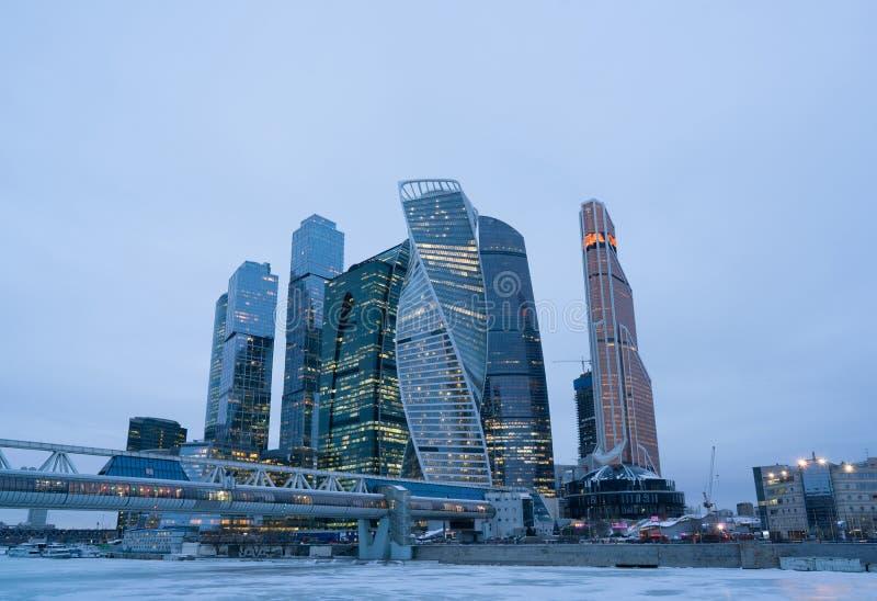 город moscow Россия international moscow делового центра стоковые изображения rf