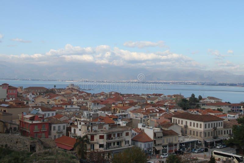 Город Nafplion, Греции стоковые фотографии rf