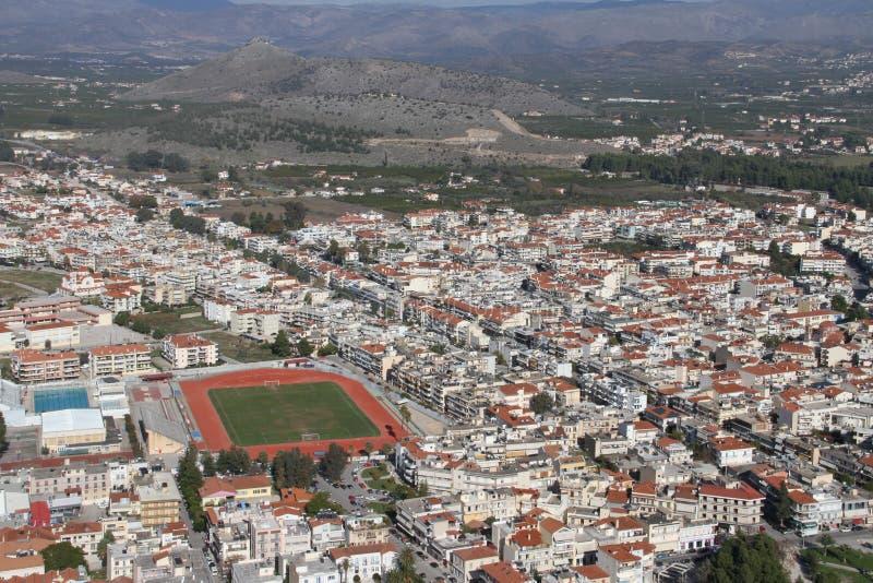 Город Nafplion, Греции стоковое изображение