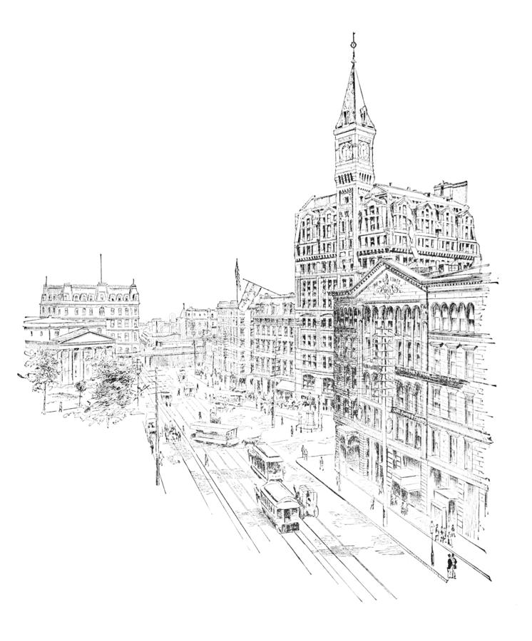 город New York Иллюстрация гравировки бесплатная иллюстрация