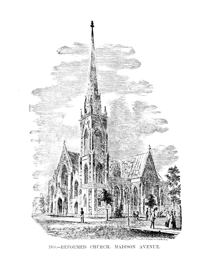 город New York Иллюстрация гравировки иллюстрация вектора
