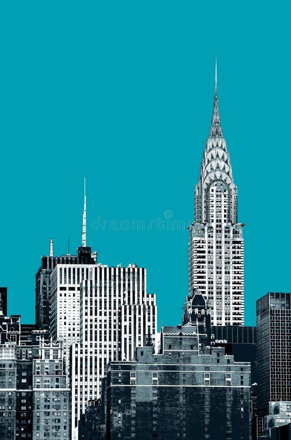 город New York chrysler здания стоковое изображение rf