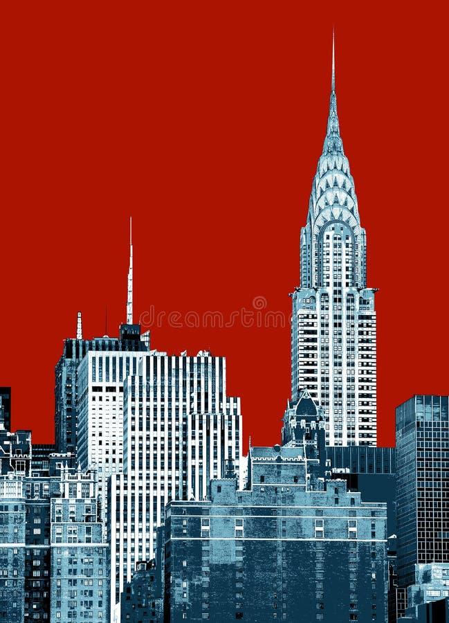 город New York chrysler здания стоковая фотография