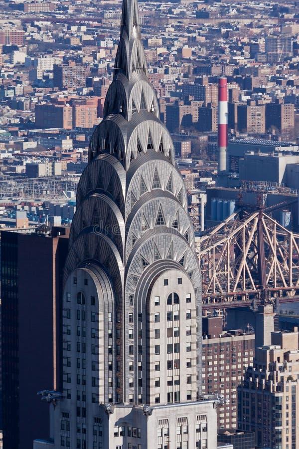 город New York chrysler здания стоковое фото rf