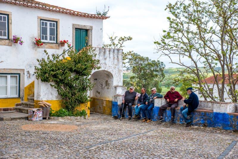 Город Obidos - красивый и исторический в Португалии стоковые фото