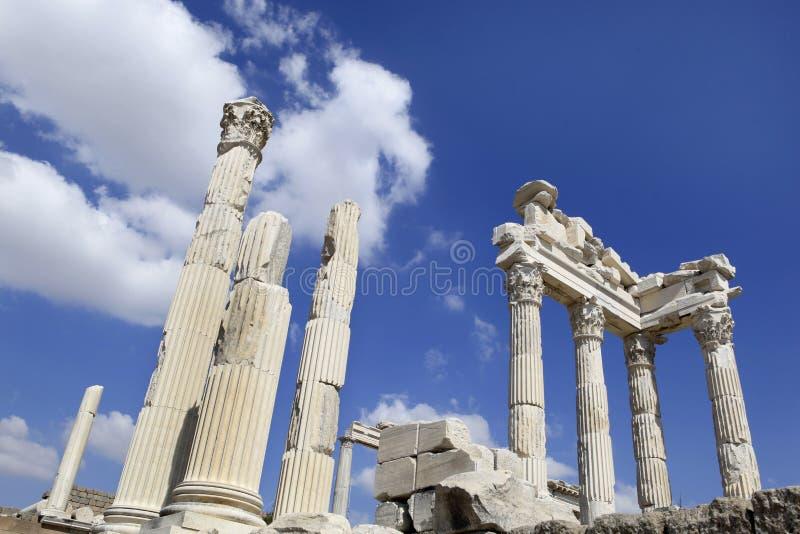 Город Pergamon в Bergama, Турция древнегреческия стоковые фотографии rf