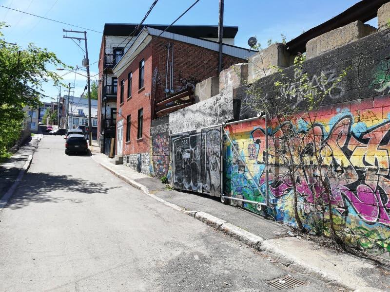 Город Québec искусства улицы граффити городской стоковое фото rf