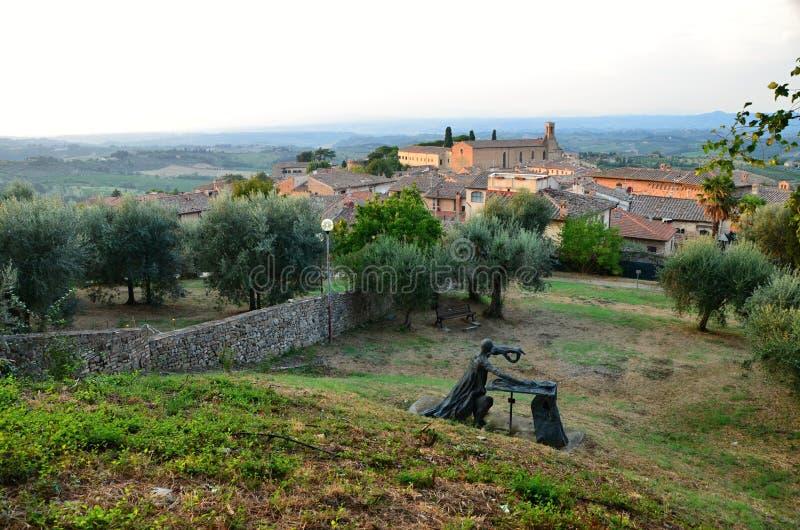 Город San Gimignano в Италии в Тоскане, стоковое фото rf