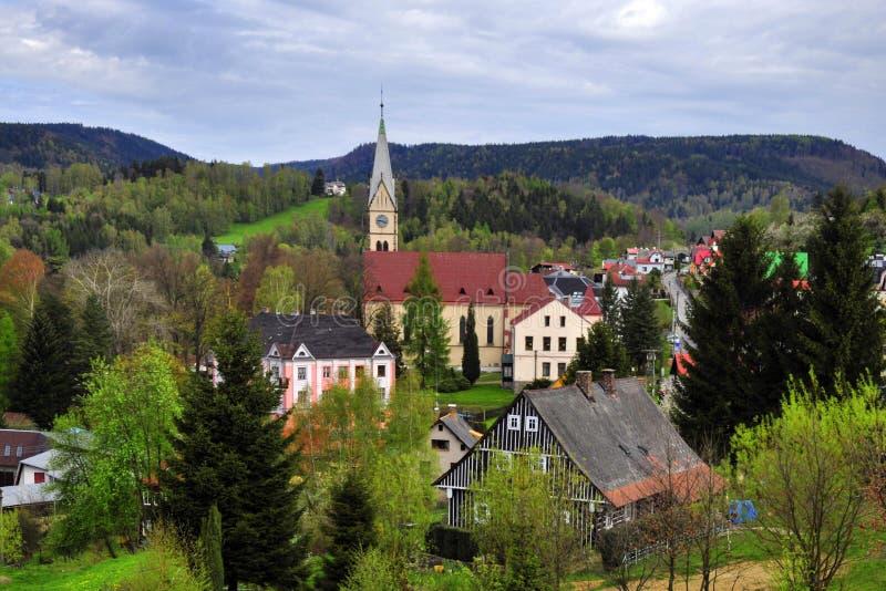 Город Tanvald стоковая фотография rf
