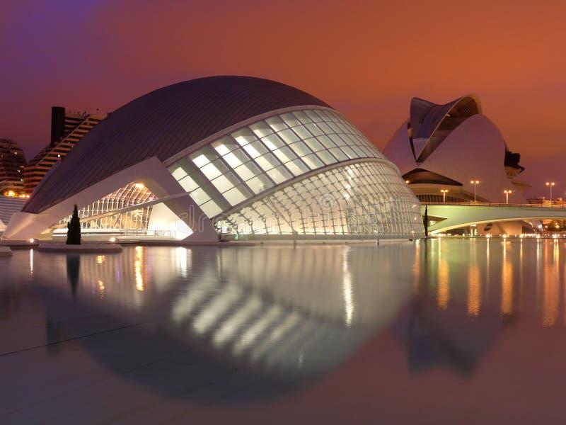 город valencia искусств стоковые изображения rf