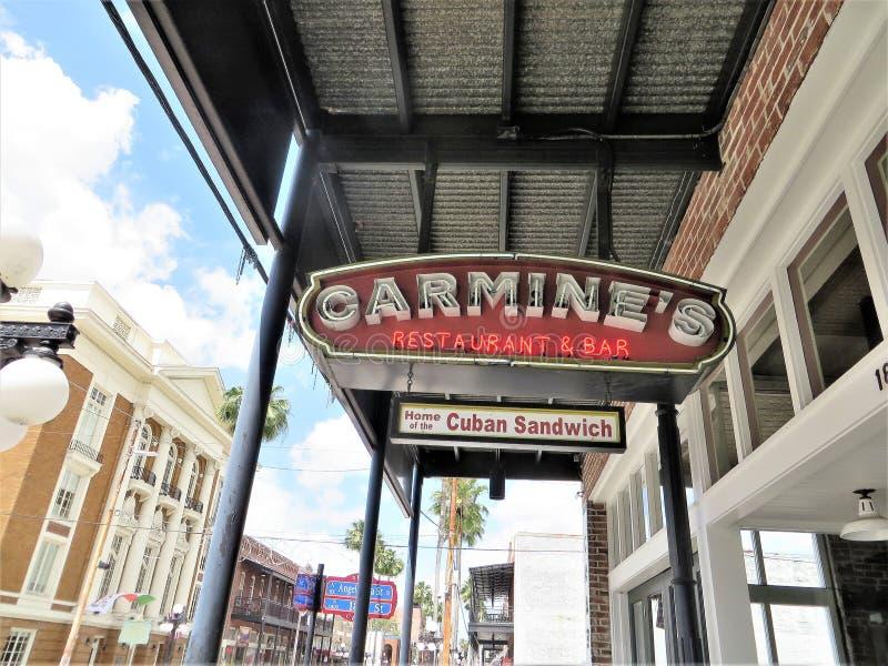 Город Ybor, Тампа, Флорида стоковые изображения rf