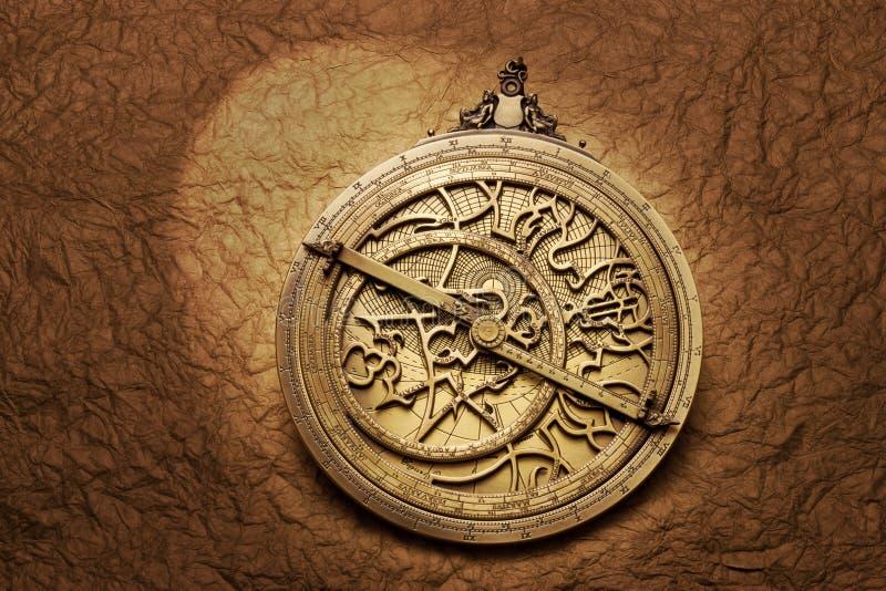 Гороскоп астрологии астролябии стоковое фото