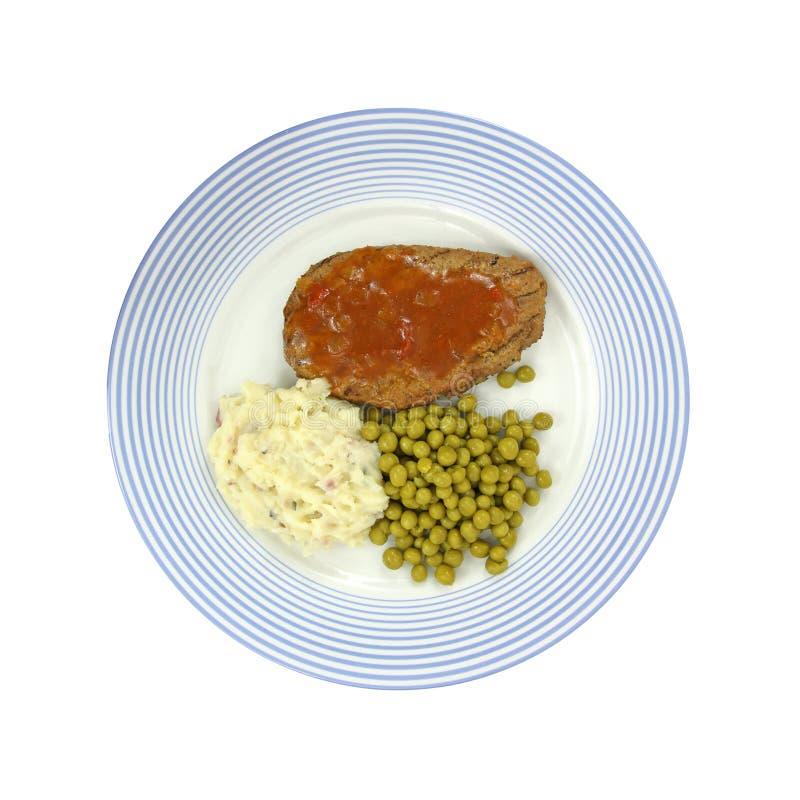 горохи meatloaf покрывают картошки стоковые изображения rf