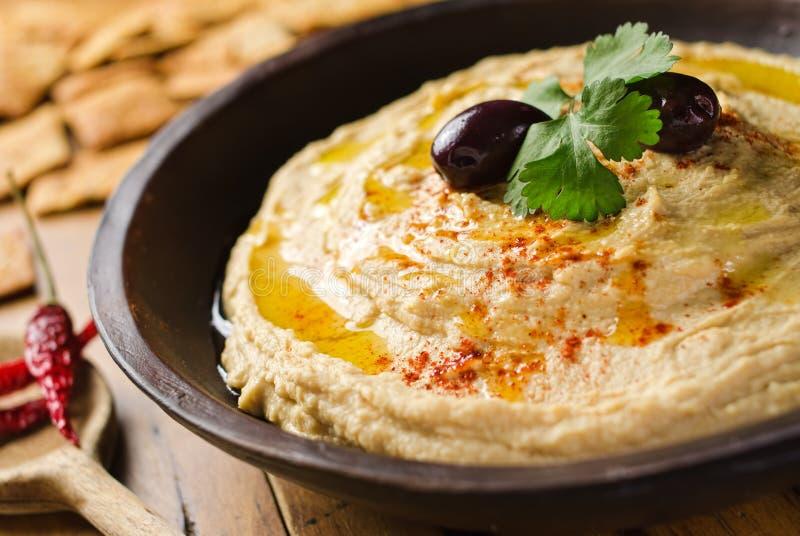 Горох цыпленока Hummus стоковые изображения rf