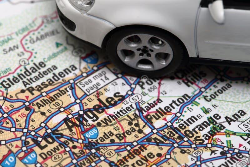 Город автомобиля Лос-Анджелеса стоковые изображения
