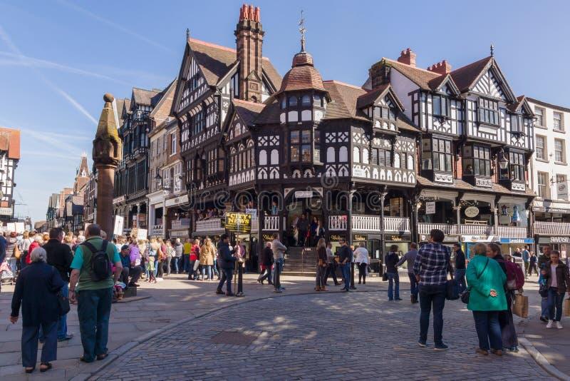 Город Англия Честера стоковые фото