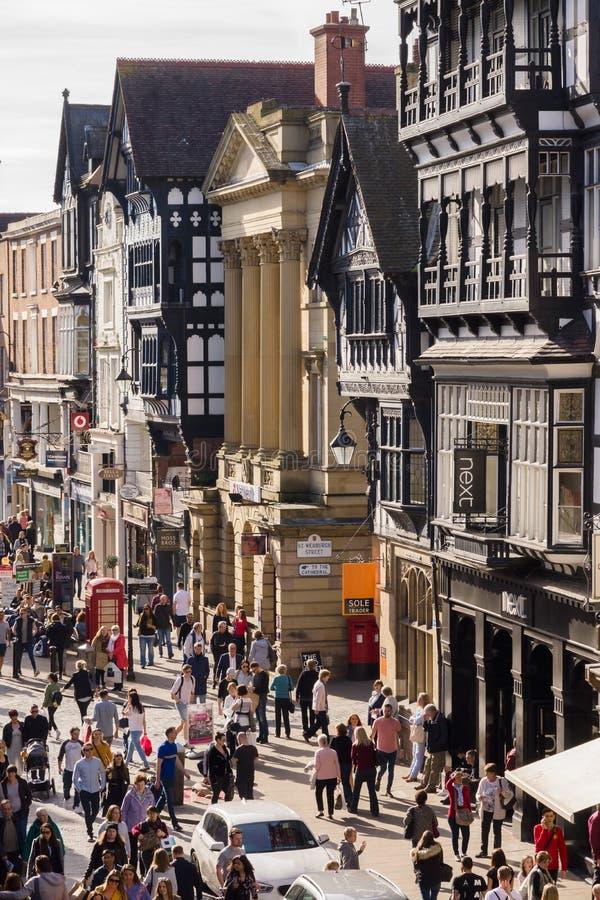 Город Англия Честера стоковое фото