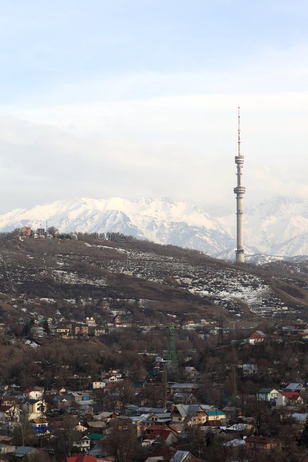 Город Алма-Аты весной стоковое фото rf