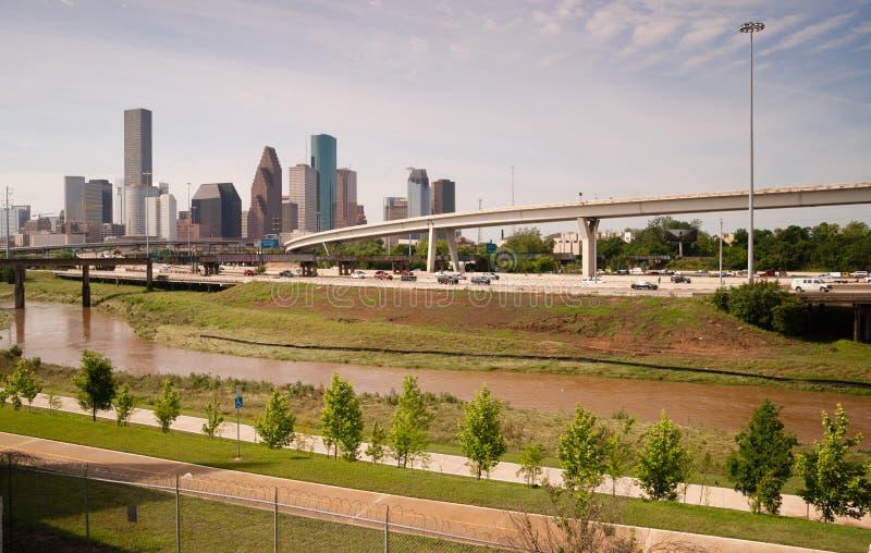 Города Техаса горизонта Хьюстона метрополия южного большого городская стоковая фотография rf