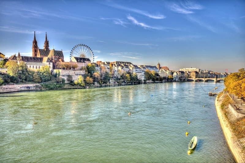 Город Базеля стоковое фото rf