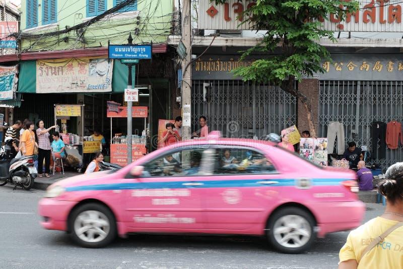 Город Бангкока, дорога Таиланд CharaneKung стоковое изображение