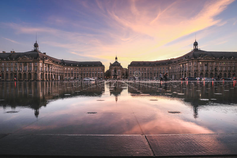 Город Бордо стоковая фотография