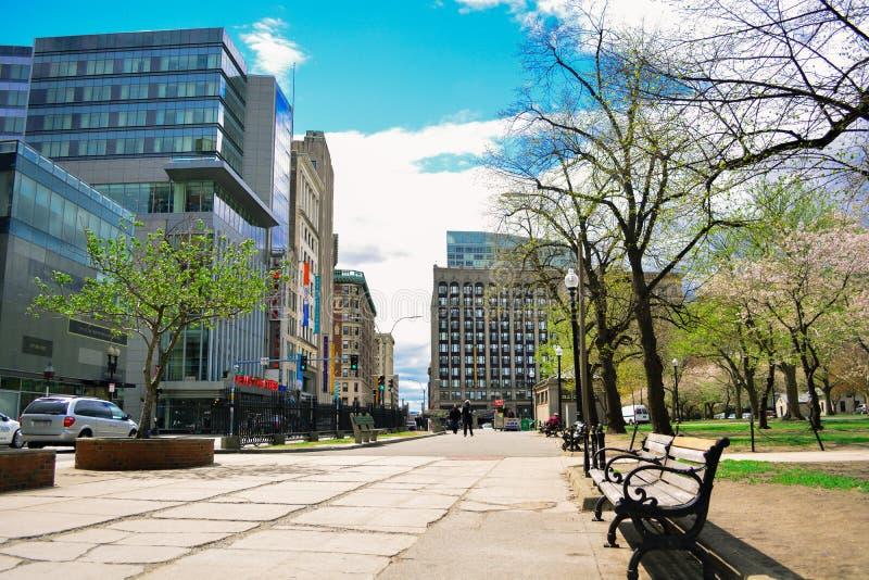 Город Бостона стоковые фотографии rf
