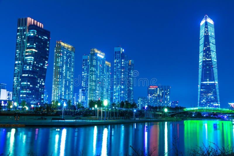 Город будущего Songdo стоковые фотографии rf