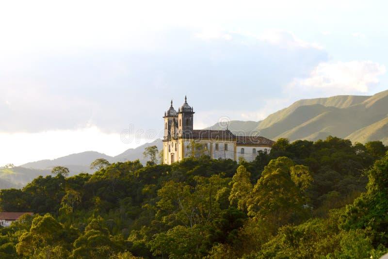 Город всемирного наследия ЮНЕСКО Ouro Preto, Бразилии стоковые фото
