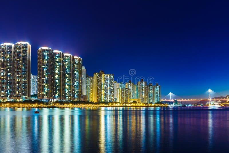 Download Город в Гонконге стоковое фото. изображение насчитывающей ноча - 33737302
