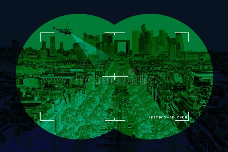 Город в перекрестиях иллюстрация вектора