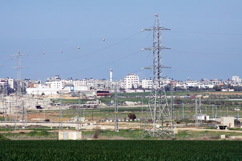Город Газа в палестинской автономии стоковые фото