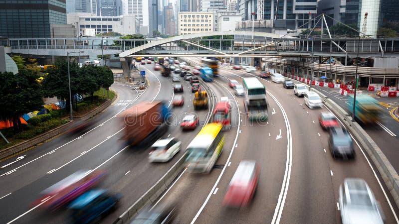 Город Гонконга занятый стоковые фотографии rf