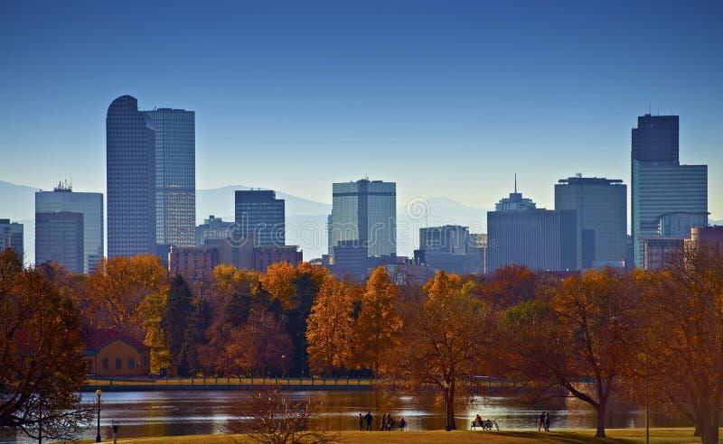 Город горизонта Денвера стоковое изображение rf