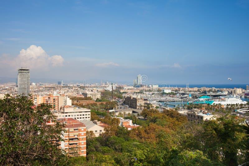 Город городского пейзажа Барселоны стоковая фотография